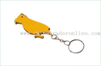 Animal Shape Bottle Opener Keychain