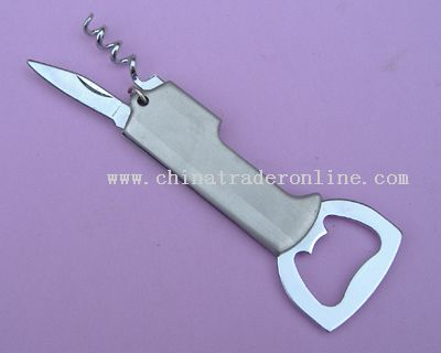 Bottle Opener with corkscrew