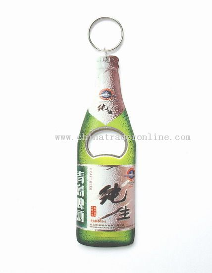 Bottle Shape Bottle Opener with keychain