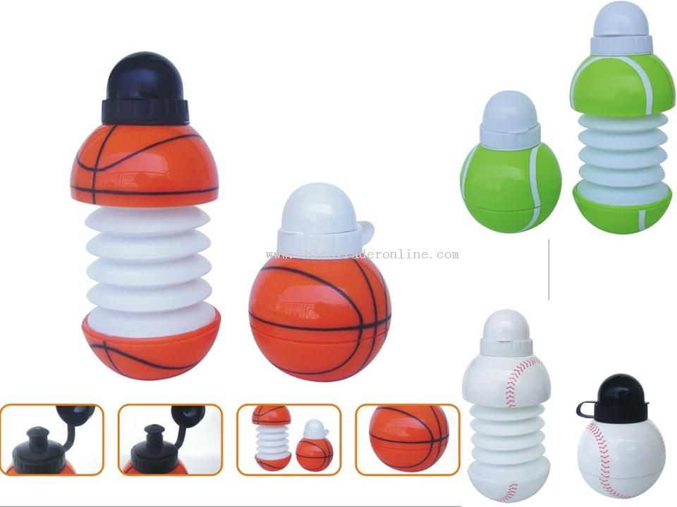 foldable water bottle basketball tennis baseball
