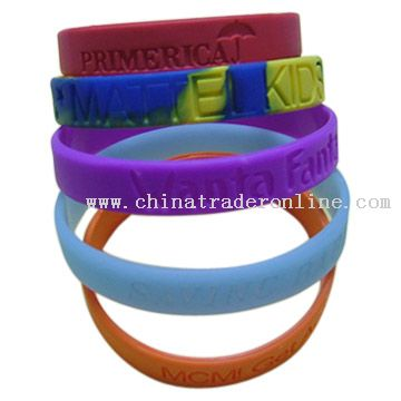 100% silicone rubber Bracelet from China