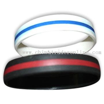 Imprint Circle Silicone Wristbands