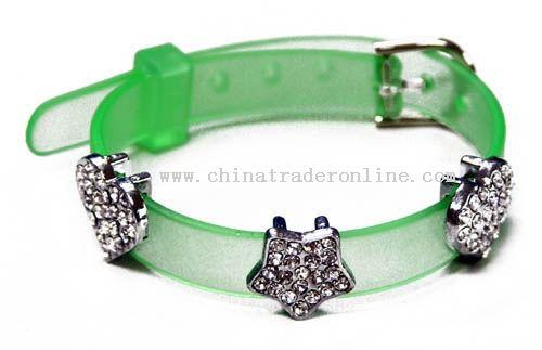 PVC Belt with Fake Diamond