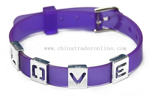 PVC Belt with Metal Letter