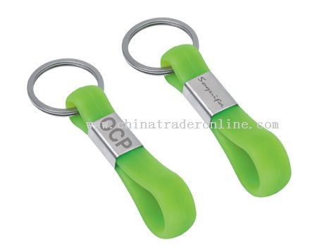 SILICONE WRIST BAND WITH KEYCHAIN