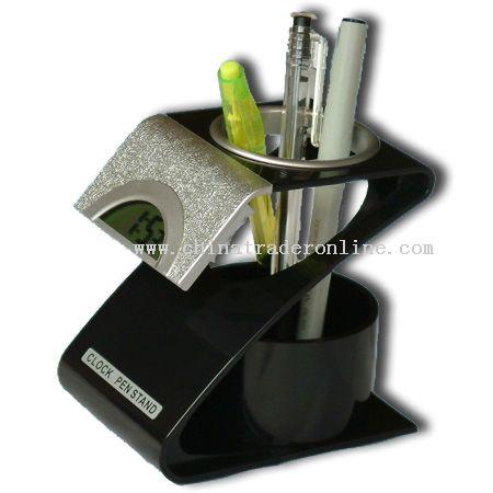 Clock pen container