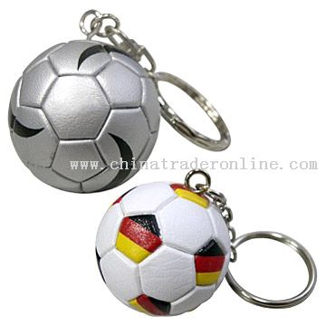 Synthetic Leather Football Key Chains