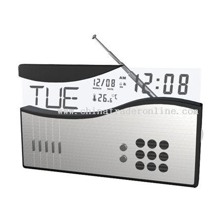 Calendar with radio