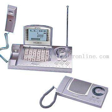 Telephone with Calendar & Radio
