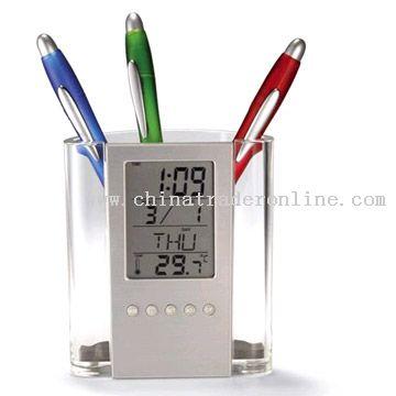 Transparent Pen Holder With Calendar