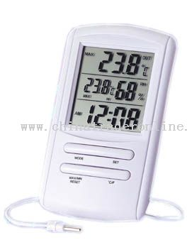 Clock-Hygro with in-out Thermometer