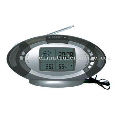 Thermometer & Hygrometer Clock Calendar