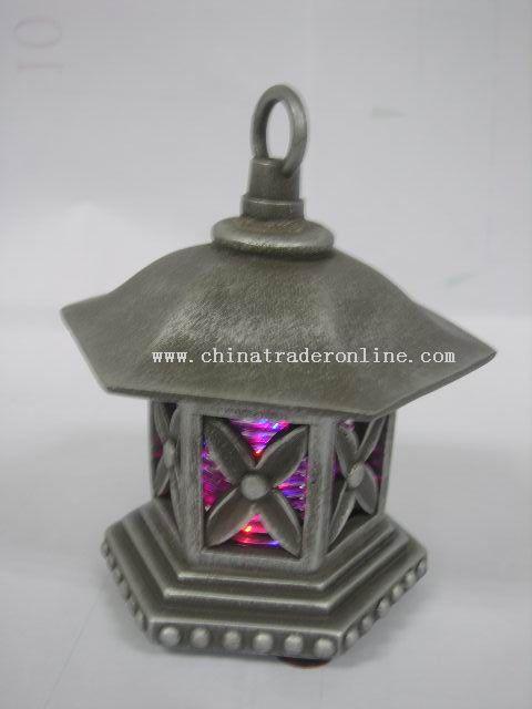 SILVER LED CANDLEHOLDER
