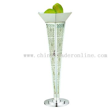 Silver Plated Dual-Purpose Floor Candlestick