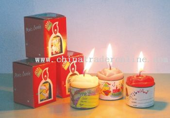 Dual Tone Musical Candle from China
