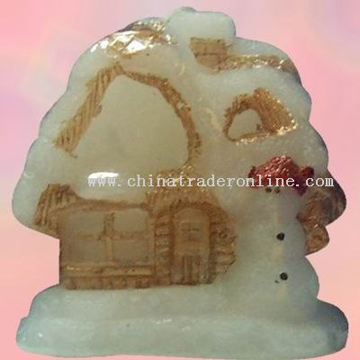 Christmas House Candle Lamp