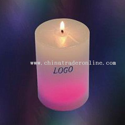 Column Shape Candle Lamps with 7 Colors Led