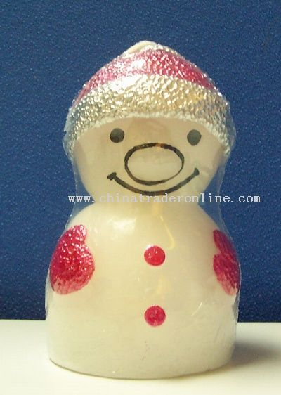 Small Snow Man Shape Candle Lamp