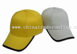 100% cotton 6 turned panel cap