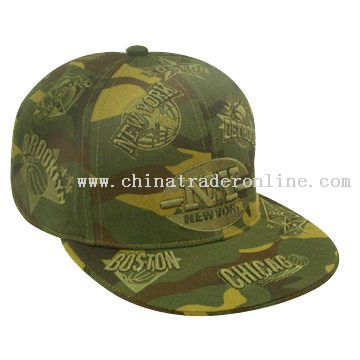 camouflage cotton twill Size Cap