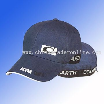 Baseball cap with towel embroidery