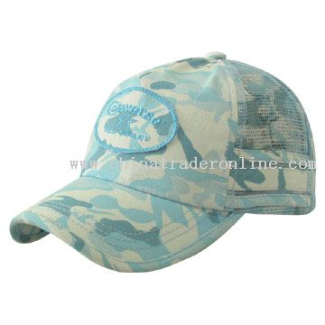 camouflage cotton twill and comouflage mesh Cap