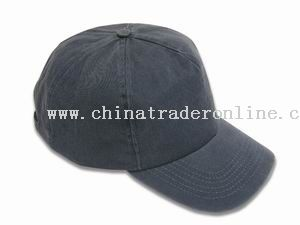 Pigment washed cotton 5-panel cap