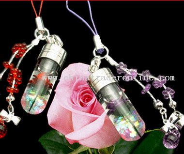 Rose & Birthstone Capsule Mobile Phone Strap