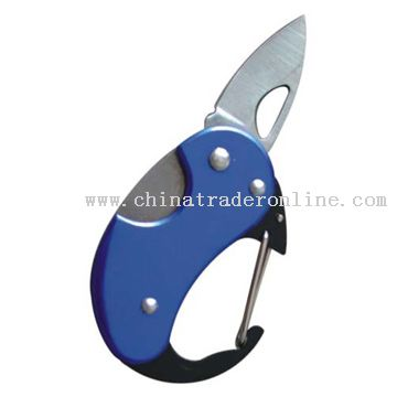 Aluminum Carabiner with Knife