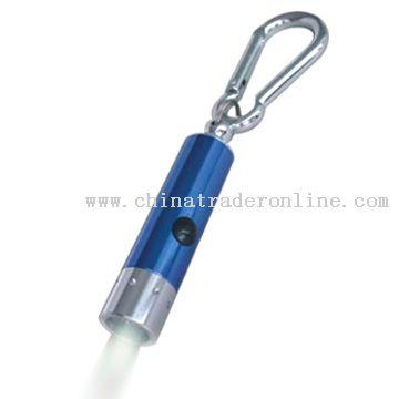Aluminum mini LED flashlight with carabiner