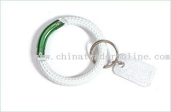 Round Carabiner with key tag
