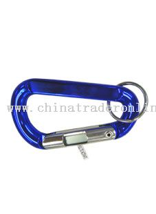 Carabiner with clock