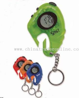 LCD CARABINER TIMER KEYCHAIN from China