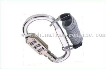 Combination Lock Carabiner with Rope
