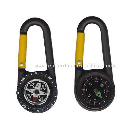 Zinc Carabiner compass