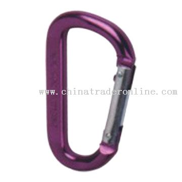 D Shaped Aluminum Carabiner