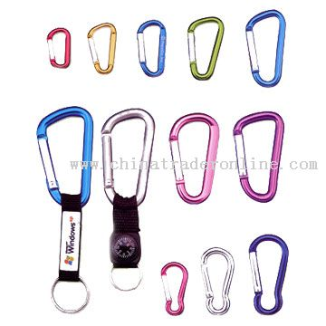 Short Strap Key Chain with Carabiner from China