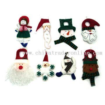 Christmas Hanging Santa Head