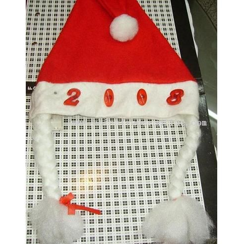 christmas hat with lash and logo