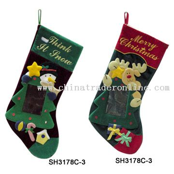 Christmas Stockings with Photo Frame