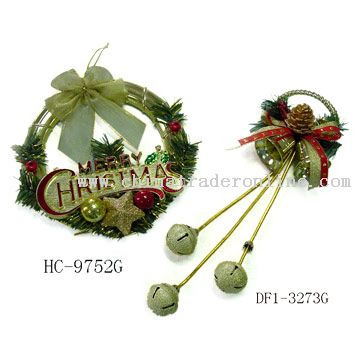 Christmas Wreath and Door Ornament