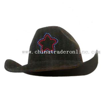 Flashing Fiber Optic Carnival Hat