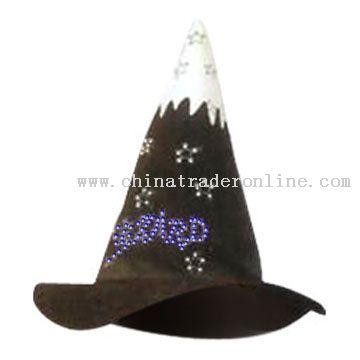 Flashing Fiber Optic Wizard Hat