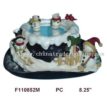 Polyresin Dancing Snowman with Musical Hat