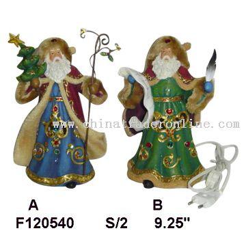 Santa with Fabric Coat