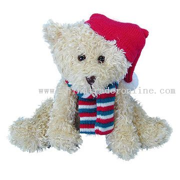 Stuffed Xmas Teddy Bear