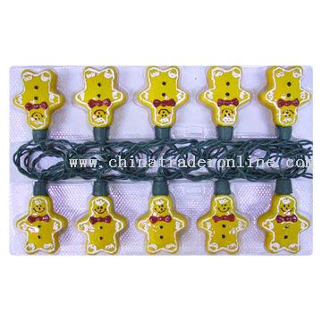 10L Glass Ginger Man Light Set
