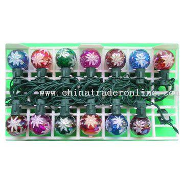 25L Glass Globe-Snowflake Xmas Light