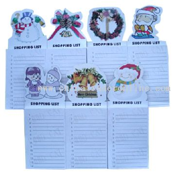 Christmas Magnetic Note Pads from China