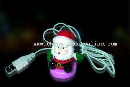 USB Colorful flashing Santa Claus from China